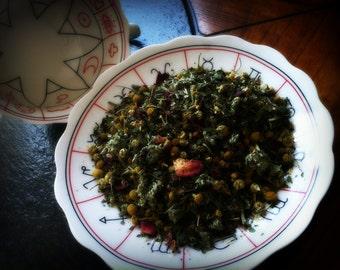 The Astral Realm... Premium All Organic Nighttime Organic Herbal Dreaming Tea Blend Peppermint Tea Mugwort Tea Chamomile Tea