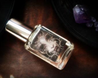 Parting The Veil - Halloween Perfume Samhain Perfume Oil - Cold Night Air Damp Earth Hawthorn Berry White Amber Incense