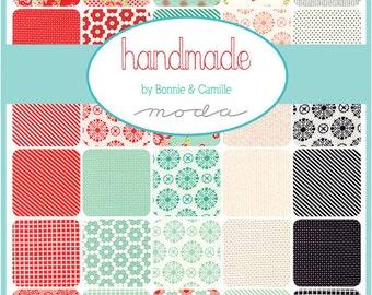 "SALE 30% Off SQ12 Moda HANDMADE Precut 5"" Charm Pack Fabric Quilting Cotton Squares Bonnie & Camille 55140PP"