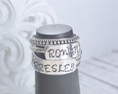Personalized Mother's Ring - hand stamped ring - stacked ring - name ring - mother's ring - Sterling silver name ring - personalized ring