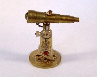 Miniature Medieval Ornate Steampunk Tabletop Telescope
