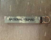 Army National Guard Name Tape Key Chain, Army National Guard Military Keychain, Army National Guard Key Fob