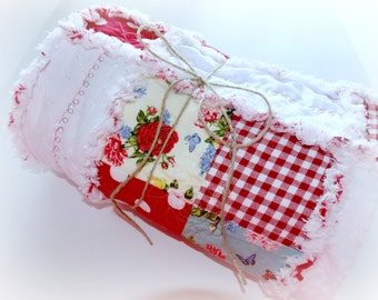 """Handcrafted OOAK Rag Quilt """"Country Girl"""""""