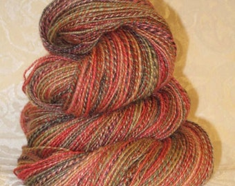 Handspun Yarn - Blueface Leicester Wool and Silk