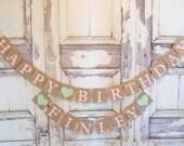 Happy Birthday banner, Happy Birthday personalized, Personalized name banner, Birthday Decorations, Birthday banners,Personalized Birthday