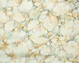 1930's Vintage Wallpaper - Faux Finish of Brown Gold and Green Marble