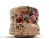 Poppy Cup with flowers and a beaver