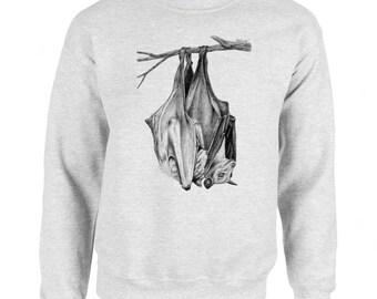 Bat Snuggles Art Men's Sweatshirt Small - 2XL