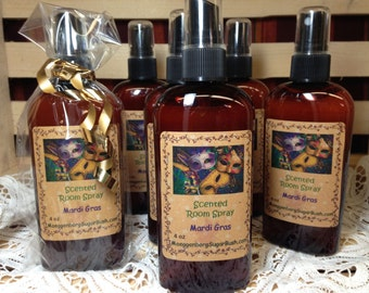 Mardi Gras Highly Scented Room Spray - 4 ounce bottle-fragrant Moeggenborg Sugar Bush