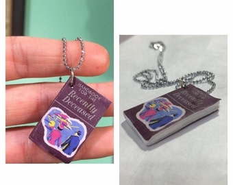 Christmas in July - Handbook For The Recently Deceased, Beetlejuice Movie Necklace, book necklace