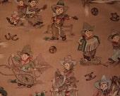 "Alexander Henry ""Santa Fe, Cowgirls and Boys "" 100% Cotton fabric - 2 yards"