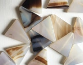 Natural Triangle Agate Beads