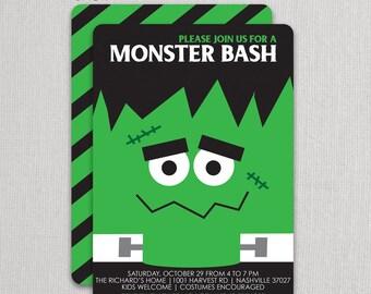 Frankenstein Halloween Invitations | Swanky Press - Halloween party