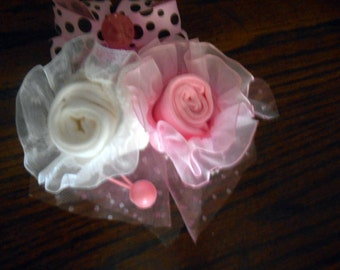 Baby Shower Corsage Hand Made Pink or Any Color or will custom make For Girl or Boy Baby