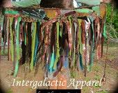 Woodland TatteReD Tutu, FeStiVaL Cothing, Tattered Pixie Skirt, CUSTOM FOR YOU TriBaL Clothing, Woodland Wrap Skirt, Hippie Skirt