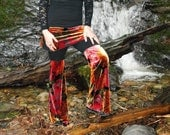 Festival Pants Flared leg skirted pants Festival Clothing by Intergalactic Apparel
