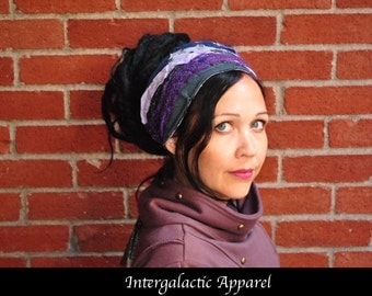 Dreadlocks headband, ASCENDING MASTER Dreadband, Hippie Hair Wrap Intergalactic Apparel, Gypsy clothes