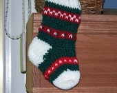Christmas ornament miniature stocking