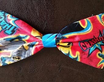 Batman Cartoon style clip in hair bow
