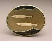Two Fish and Waves- little oval dish- Ruchika Madan