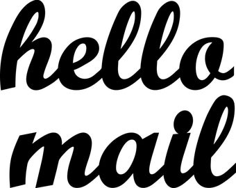 custom hello mail acrylic signs