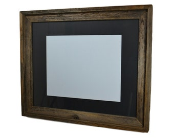 16x20 weathered wood frame with black mat for 11x14 prints or photo