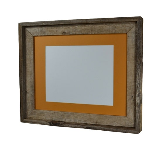 11x14 Wood Frame With Yellow Mat For 8x108 1 2x118x127x9 Or