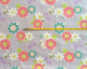 NEW Riley Blake Dream and a Wish floral on orchid cotton Lycra  knit fabric 1 yd