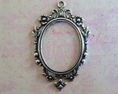 New Large Silver Oval Setting 3720
