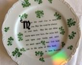 Irish Blessing Saji China plate