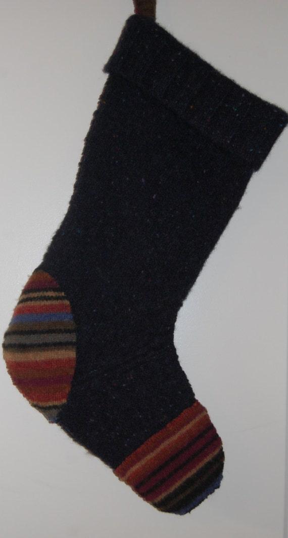Christmas Stocking Felted Wool Christmas Stocking Christmas decoration 117  SALE