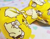 Pompompurin puffy hair bow, Sanrio sweet lolita purin sparkle barrette hair clip