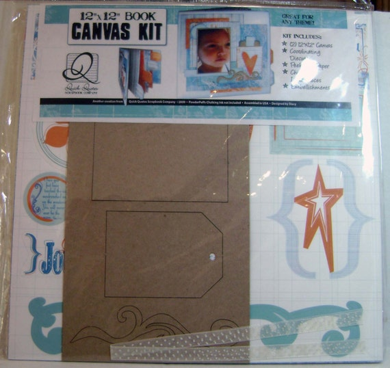 Scrapbook Canvas album Kit Quick Quotes 12x12