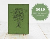 Herbology Notebook or Daily Planner or Weekly Planner