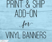 PRINT & SHIP my banner: Add-on item for any MeckMom digital banner purchase