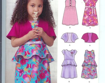 Simplicity KIDS  Childrens Toddlers DRESS and  Over Jacket  Sewing Pattern 0923  Size  A   3-8   New Look  UNCUT