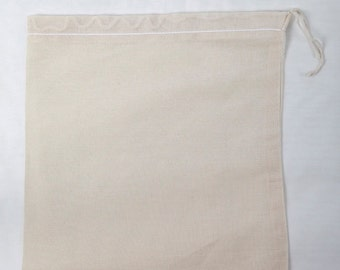 18x20 natural muslin drawstring bags Hand sewn In the USA 200 count pack