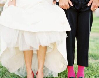 WATERMELON  Specialty Color Grooms Socks, Groomsmen Socks, Wedding Gift, Bridal Party