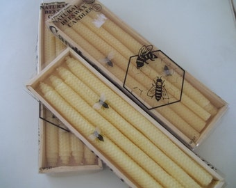 Beeswax Candles Set of 4 Tapers