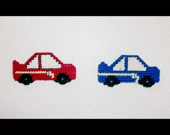 Race Car Magnets. Refrigerator or Magnetic Board Magnets. Fun Playtime Magnets for Kids. Novelty Magnets. Two (Red & Blue) Race Car Magnets