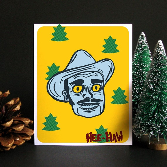 Funny Christmas Card, Funny holiday card, Holiday card, Christmas card, Weird Christmas, Greeting card, Gift idea, Gift for men - Hee Haw