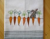 Carrot Crop Bunny Kitchen Towel