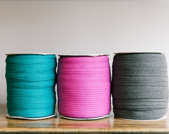 """6mm 1/4"""" Cotton herringbone twill tape / Cotton tape / available in over 200 beautiful colours, cotton drawcord / sold by the yard"""