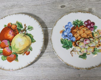 Lovely Fruit Plates, Pineapple Apple Strawberry Made in China, Tea Party, Decorative, Gift Giving, Under 20