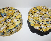 Minions superhero yarmulke many packed Minions from Despicable Me kippah--choice of fabric band or stretch band