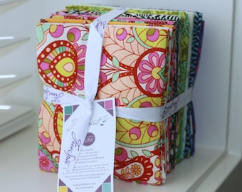 SALE 25 Fat Quarters fabric SLOW & STEADY by Tula Pink Freespirit