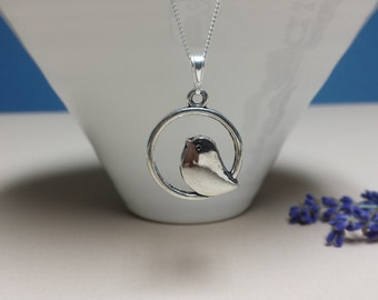 Singing Bird Necklace, Sterling Silver Necklace, Chic, Nature, Jewelry, Bridesmaid, Wedding, Mothers day Gift