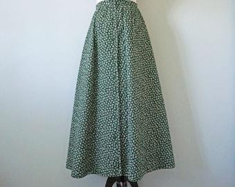 Rare Geoffrey Beene Bazaar Quilted Skirt in Hunter Green