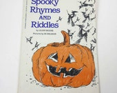 Spooky Rhymes and Riddles 1970s Scholastic Children's Book by Lillian Moore Illustrated by Ib Ohlsson