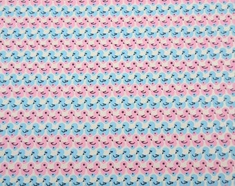 Vintage Baby Wrapping Paper or Gift Wrap withCute Blue and Pink Toy Ducks
